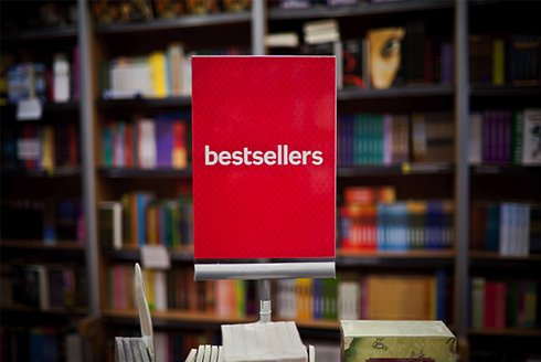Books on the bestsellers shelf